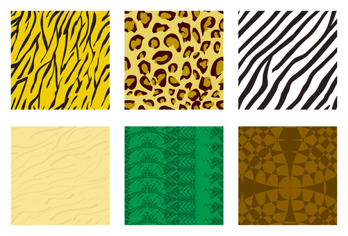 Animal pattern swatch pattern