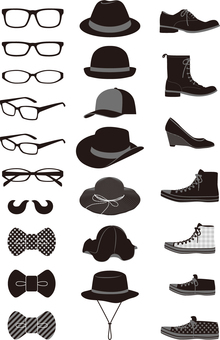 Fashion accessories monochrome