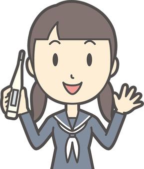 Junior high school sailor woman-285-bust