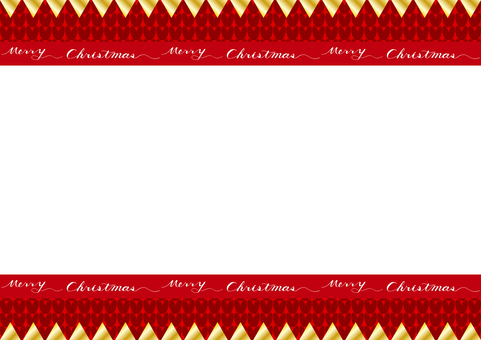 Christmas garland knitted background