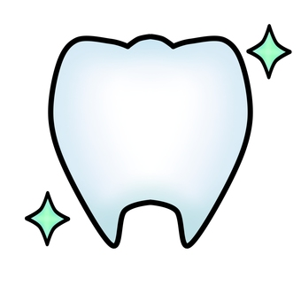 Healthy teeth (with contours)