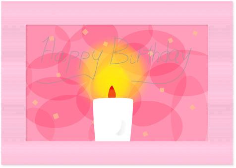 Birthday card candle