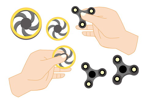 Hand spinner and turning hand