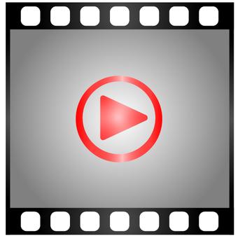 動画再生 グラデーション