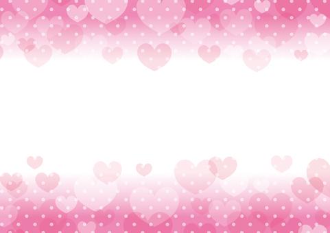 ハート柄のフレーム_背景素材05