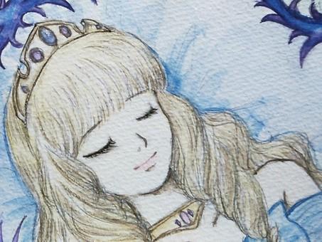 Sleeping forest princess