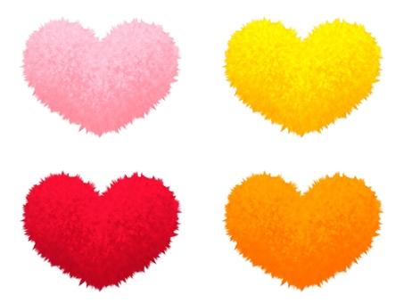 Fluffy mokomoko material heart