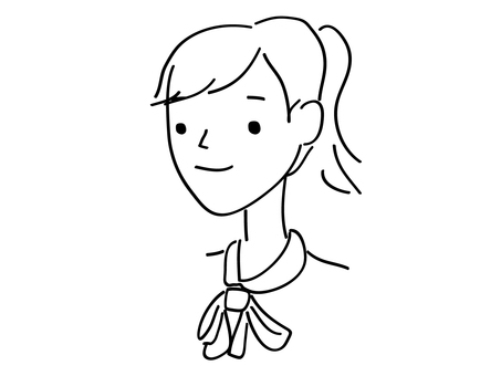Smiling woman with ponytail