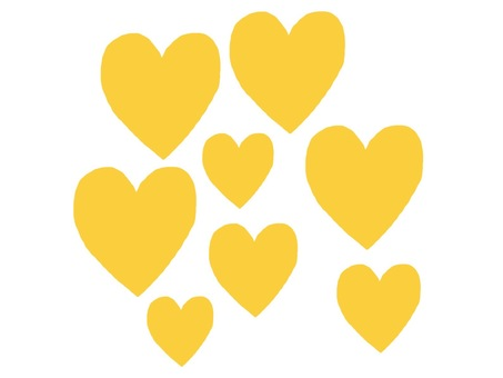 A lot of hearts yellow