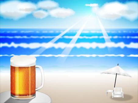 Beer and summer sea No 2