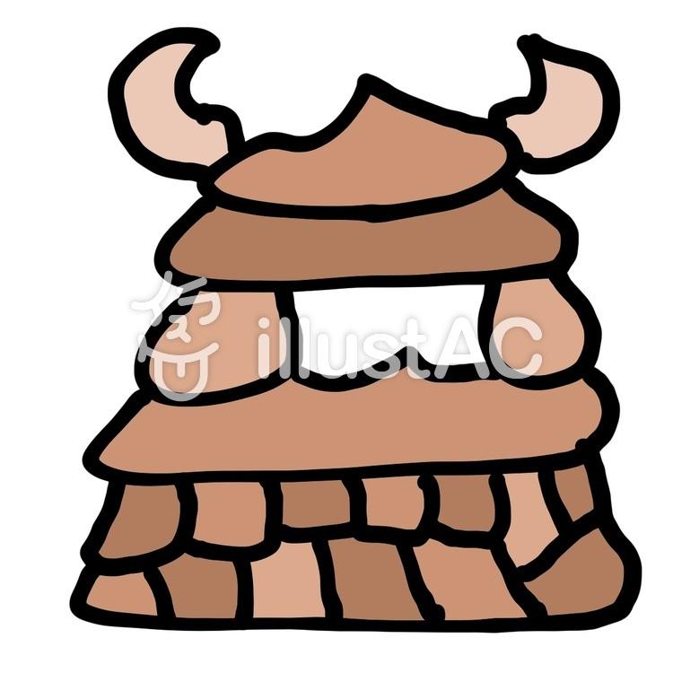 うんち城のイラスト