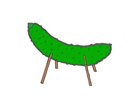 Seishin horse (cucumber horse)