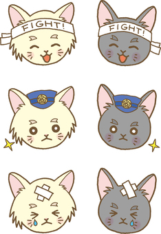 Kittens face set 8