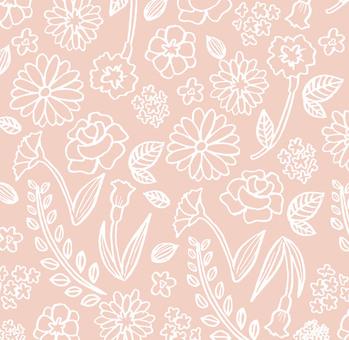 Flower hand-drawn texture