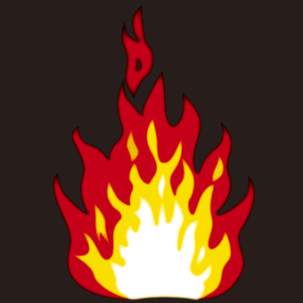 Bonfire flame