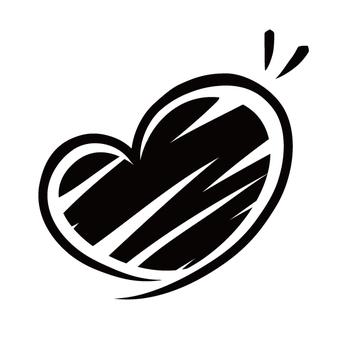 Heart line · black · rough