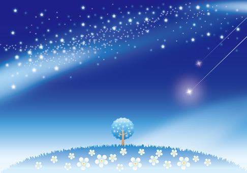 星降る夜空の風景