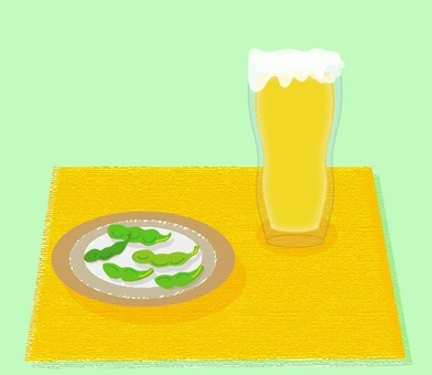 Beer and Edamame - Green series