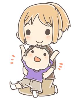 육아 여성과 어린이