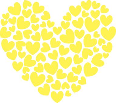 Heart _ gathering _ yellow