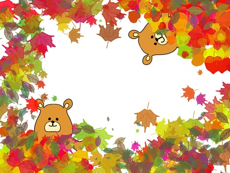 Autumnal leaves and bears