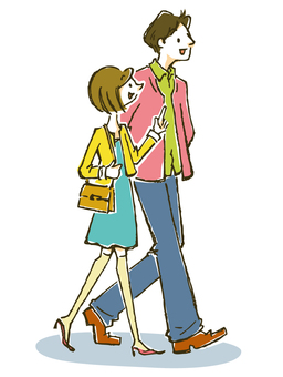 Stroll couple