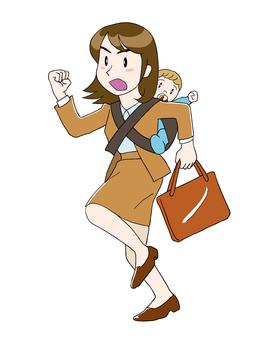 Shin Mama who works hard