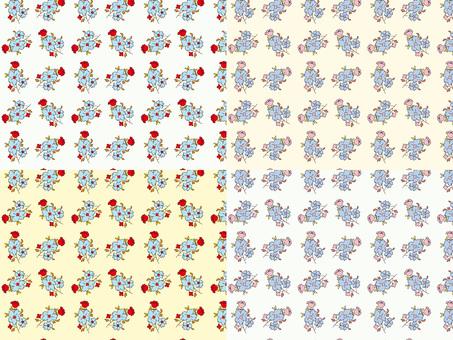 花模様の背景イラスト