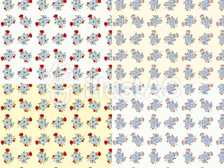 花模様の背景イラストのイラスト