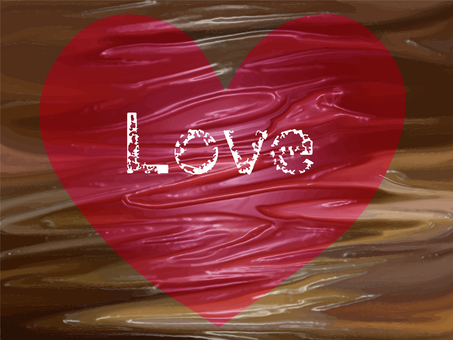 Printing LOVE on chocolate