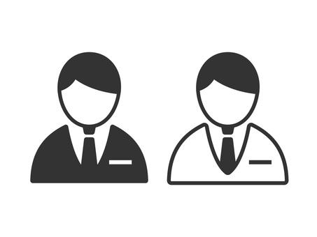 Businessman icon 02