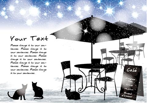 Winter Xmas Cafe Diamond Dust Cat
