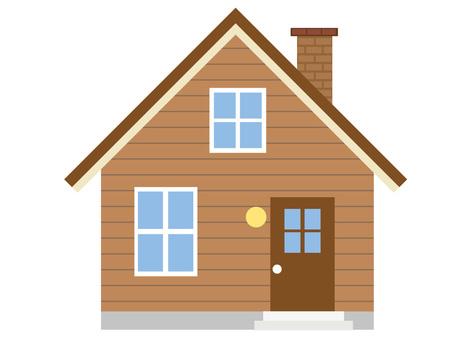Brown log house