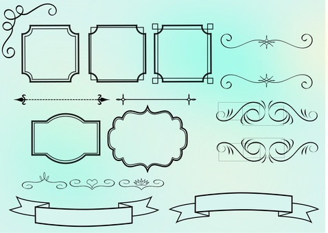 Simple decorative frame set