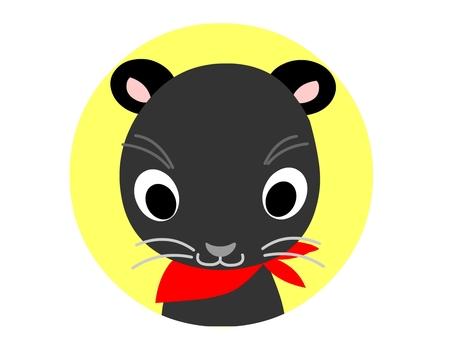 Black hide icon