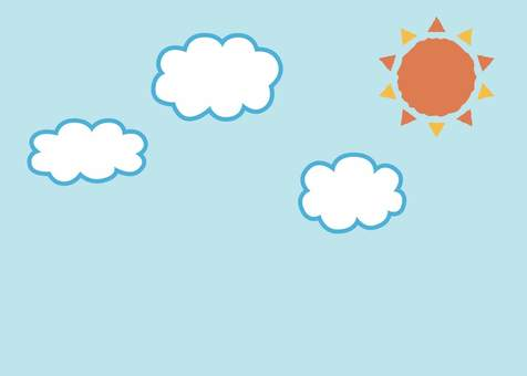 Sun and cloud background