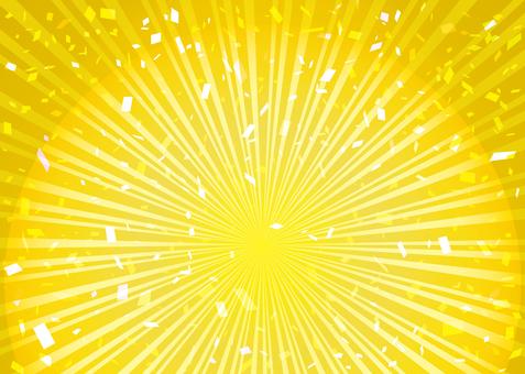 집중 선 일본식 설날 황금 프레임 테두리 배경 방사선