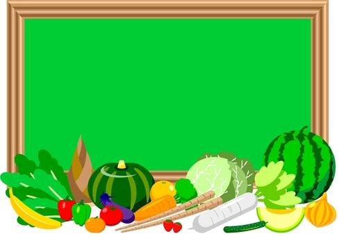 黑板和蔬菜