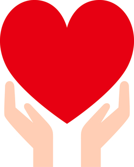 Heart _ both hands _ 01 _ red