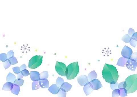 紫陽花のメッセージカード