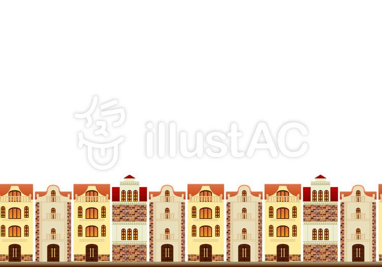 ヨーロッパの街並みイラスト No 373159無料イラストならイラストac