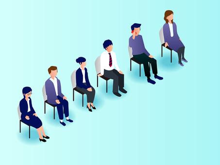 People (sit)