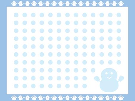 Snowman pattern 1
