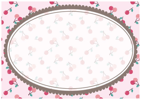 Cherry frame oval