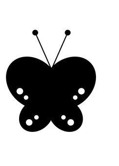 Butterfly's silhouette