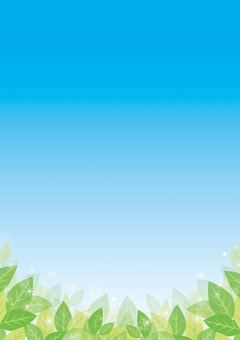 Green leaf and blue sky background 04
