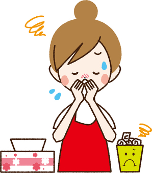 A woman with a runny nose _NA 12