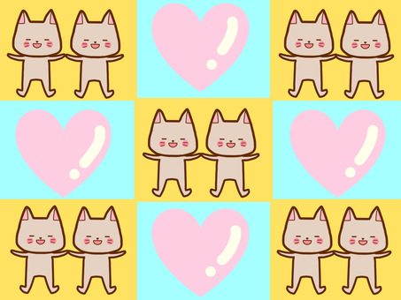 Cat of love and peace