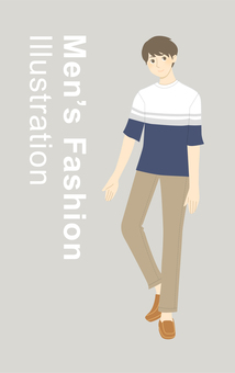 Fashion illustration (men's)