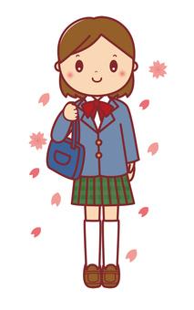 入学 女子学生